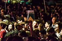 """RIO DE JANEIRO, RJ, 23.10.2018 - ELEIÇÕES-2018 - O candidato à Presidência da República, Fernando Haddad (PT), acompanhado de sua vice, Manuela D'Ávila, participam de """"Ato da Virada"""" no Arcos da Lapa no Rio de Janeiro (RJ), em defesa da cultura, da liberdade e da democracia, região central  do Janeiro, nesta terça-feira 23. (Foto: Vanessa Ataliba/Brazil Photo Press)"""