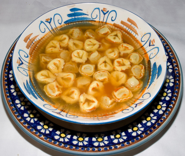 Tortellni and Broth, Trattoria Marione, Florence, Tuscany, Italy