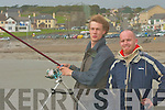 Hugh Cronin and David O'Sullivan in discussion at the Tralee sea angling club outing in Ballyheigue on Sunday...   Copyright Kerry's Eye 2008