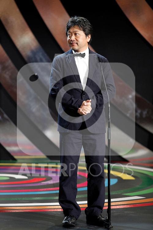 Hirakazu Kore-eda  during the 61st San Sebastian International Film Festival's opening ceremony, in San Sebastian, Spain. September 20, 2013. (ALTERPHOTOS/Victor Blanco)