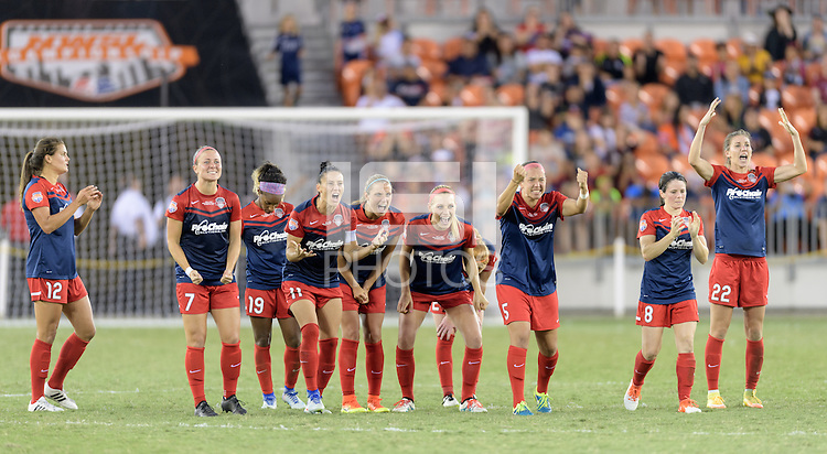 Houston, TX - Sunday Oct. 09, 2016: Washington Spirit after the National Women's Soccer League (NWSL) Championship match between the Washington Spirit and the Western New York Flash at BBVA Compass Stadium. The Western New York Flash win 3-2 on penalty kicks after playing to a 2-2 tie.