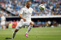 Benzema of Real Madrid during La Liga match between Real Madrid and Atletico de Madrid at Santiago Bernabeu stadium in Madrid, Spain. September 13, 2014. (ALTERPHOTOS/Caro Marin)
