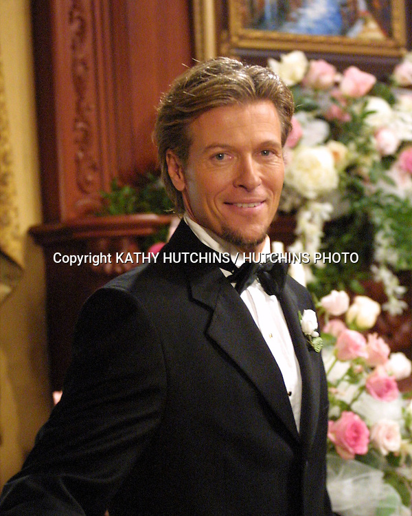 ©2003 KATHY HUTCHINS / HUTCHINS PHOTO.BOLD AND THE BEAUTIFUL.TAPING OF WEDDING OF.MASSIMO MARONI AND JACQUELINE PAYNE.LOS ANGELES, CA.OCTOBER 7, 2003..JACK WAGNER..