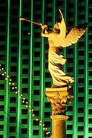 Angel statues with trumpets at Caesars Palace in Las Vegas gambling city in Nevada, USA