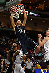 March 6, 2015; Las Vegas, NV, USA; Loyola Marymount Lions forward Marin Mornar (42) dunks the basketball against the Santa Clara Broncos during the second half of the WCC Basketball Championships at Orleans Arena.