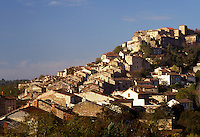 France, the Dordogne, Quercy, Midi-Pyrenees, Cordes-sur-Ciel, Tarn, Europe, Scenic medieval hilltop village of Cordes-sur-Ciel.