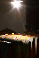 Chateau de Montpezat. Pezenas region. Languedoc. Barrel cellar. France. Europe.