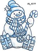 Interlitho-Theresa, CHRISTMAS SANTA, SNOWMAN, WEIHNACHTSMÄNNER, SCHNEEMÄNNER, PAPÁ NOEL, MUÑECOS DE NIEVE, paintings+++++,snowman,KL6177,#x#