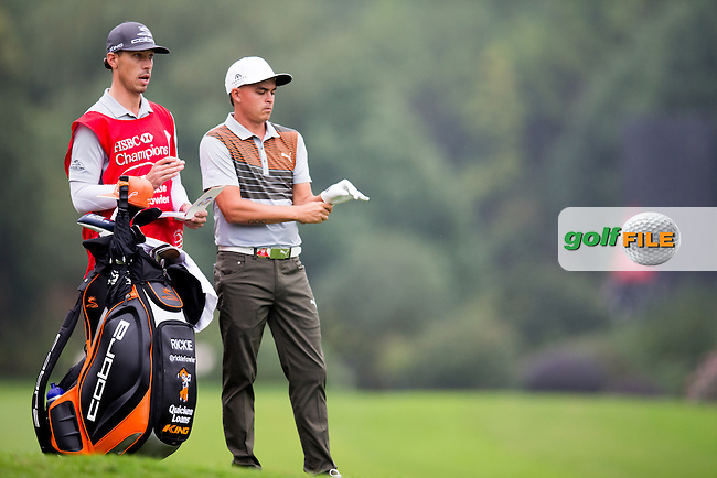 Rickie Fowler (USA) on the 2nd during the 1st round of the  WGC-HSBC Champions, Sheshan International GC, Shanghai, China PR.  27/10/2016<br /> Picture: Golffile | Fran Caffrey<br /> <br /> <br /> All photo usage must carry mandatory copyright credit (&copy; Golffile | Fran Caffrey)
