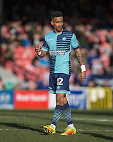 Goalscorer Paris Cowan-Hall of Wycombe Wanderers during the Sky Bet League 2 match between Grimsby Town and Wycombe Wanderers at Blundell Park, Cleethorpes, England on 4 March 2017. Photo by Andy Rowland / PRiME Media Images.