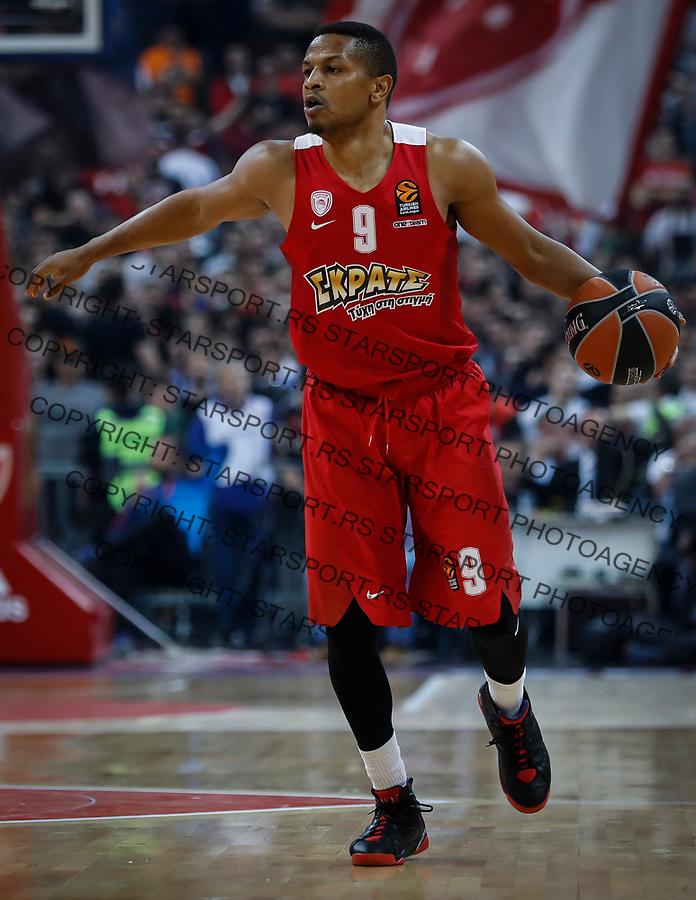 Kosarka Euroleague season 2016-2017<br /> Crvena Zvezda v Olympiacos (Athens)<br /> Dominic Waters<br /> Beograd, 22.03.2017.<br /> foto: Srdjan Stevanovic/Starsportphoto &copy;