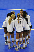 15 December 2007: Stanford Cardinal (not in order) Foluke Akinradewo, Alex Fisher, Gabi Ailes, Alix Klineman, Bryn Kehoe, Franci Girard, and Cynthia Barboza during Stanford's 25-30, 26-30, 30-23, 30-19, 8-15 loss against the Penn State Nittany Lions in the 2007 NCAA Division I Women's Volleyball Final Four championship match at ARCO Arena in Sacramento, CA.