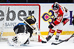 Stockholm 2014-01-08 Ishockey SHL AIK - Lule&aring; HF :  <br />  Lule&aring;s Per Ledin p&aring; v&auml;g att sl&aring; in sitt 4-0 m&aring;l<br /> (Foto: Kenta J&ouml;nsson) Nyckelord:  jubel gl&auml;dje lycka glad happy