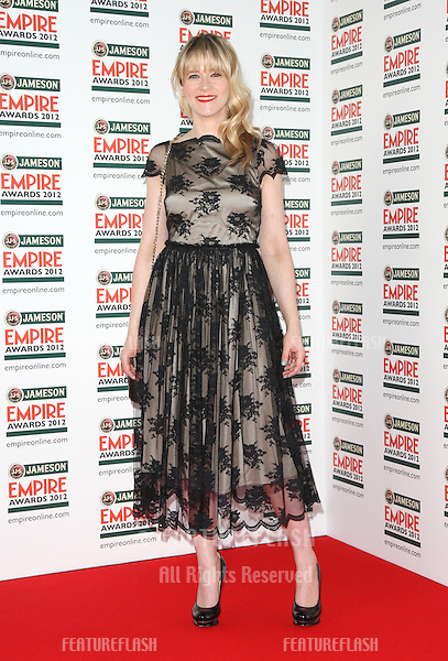 Edith Bowman arriving for  the Empire Film Awards 2012 at the Grosvenor House Hotel, London. 25/03/2012 Picture by: Henry Harris / Featureflash