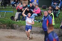 FIERLJEPPEN: BUITENPOST: Sportcomplex 'de Swadde', Ljeppersklub Buitenpost, 19-05-2012, Senioren 1e Klasse, Winnaar Bart Helmholt 20.16m, ©foto Martin de Jong