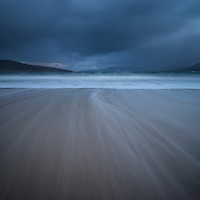 Tide flows across empy sands and Luskentyre beach, Isle of Harris, Scotland