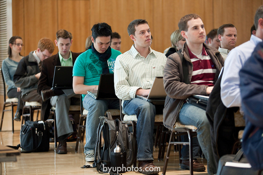 0902-45 131.CR2..0902-45 Wheatley Institution - Wheatley Conference on Ethics..Dr. Thomas Donaldson of the Wharton School of Business at the University of Pennsylvania...January 27, 2009..Photo by Jaren Wilkey/BYU..© BYU PHOTO 2009.All Rights Reserved.photo@byu.edu  (801)422-7322