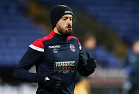 Bolton Wanderers' Jason Lowe warming up before the match <br /> <br /> Photographer Andrew Kearns/CameraSport<br /> <br /> The EFL Sky Bet Championship - Bolton Wanderers v Sheffield Wednesday - Tuesday 12th March 2019 - University of Bolton Stadium - Bolton<br /> <br /> World Copyright © 2019 CameraSport. All rights reserved. 43 Linden Ave. Countesthorpe. Leicester. England. LE8 5PG - Tel: +44 (0) 116 277 4147 - admin@camerasport.com - www.camerasport.com
