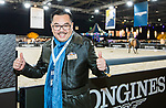 Dr Lee Yuk Lun, chairman of Tung Wah Group of Hospitals, arrives at the Longines Masters of Hong Kong at AsiaWorld-Expo on 09 February 2018, in Hong Kong, Hong Kong. Photo by Yuk Man Wong / Power Sport Images