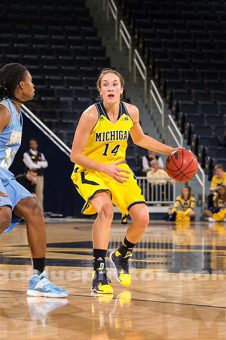 The University of Michigan women's basketball team defeats Southern University, 83-59, at Crisler Center in Ann Arbor, Mich. on December 20, 2013.