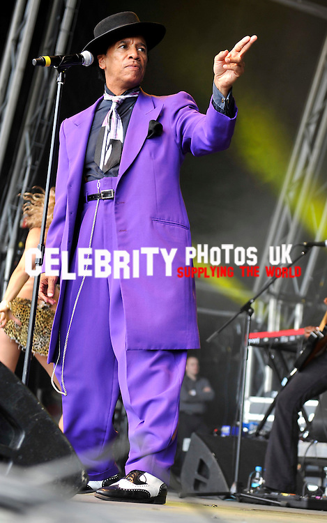 kid creole and the cocounts_2  at the Vintage At Goodwood festival   Picture By: Brian Jordan / Retna Pictures..Job:..Ref: BJN  ..-..*World Rights*....  kid creole and the cocounts AT THE VINTAGE AT GOODWOOD FESTIVAL