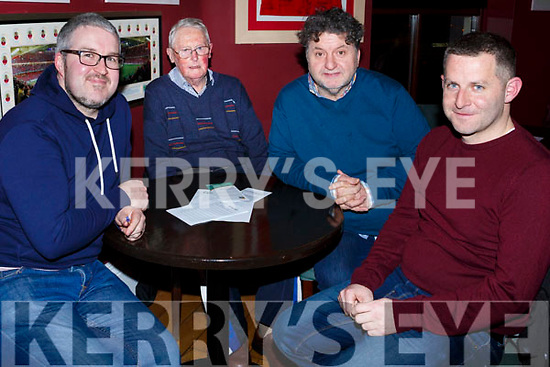 Alan O'Sullivan, Arthur Townsend, John Bishop and Ross O'Connor attending the Muscular Dystrophy Fundraiser in O'Donnell's Bar on Friday night last.