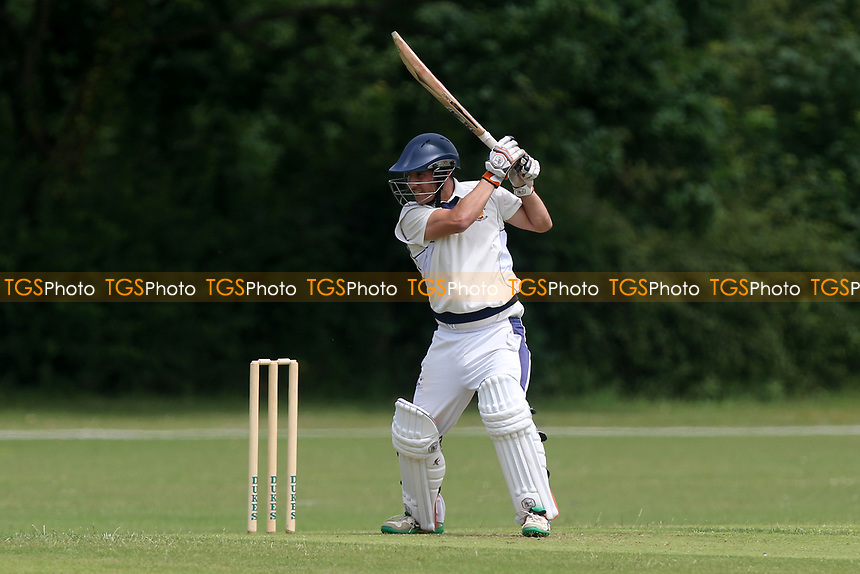 C Perrin in batting action for Harold Wood during Gidea Park and Romford CC vs Harold Wood CC, Shepherd Neame Essex League Cricket at Gidea Park Sports Ground on 1st July 2017