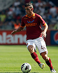 Calcio, Serie A: Roma-Bologna. Roma, stadio Olimpico, 16 settembre 2012..AS Roma midfielder Alessandro Florenzi in action during the Italian Serie A football match between AS Roma and Bologna, at Rome, Olympic stadium, 16 September 2012. .UPDATE IMAGES PRESS/Isabella Bonotto
