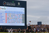 Russell Knox (SCO) putts to win on the 18th green on the play-off hole during Round 4 of the Dubai Duty Free Irish Open at Ballyliffin Golf Club, Donegal on Sunday 8th July 2018.<br /> Picture:  Thos Caffrey / Golffile