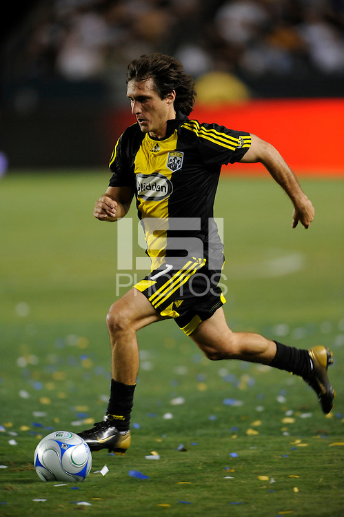 Columbus Crew's Guillermo Barros Schelotto during game against Los Angeles Galaxy at the Home Depot Center, Carson, California. Saturday, June 21, 2008..