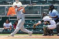 5 June 2010:  FIU's T.J. Shantz (39) doubles in the second inning as the Dartmouth Green Wave defeated the FIU Golden Panthers, 15-9, in Game 3 of the 2010 NCAA Coral Gables Regional at Alex Rodriguez Park in Coral Gables, Florida.