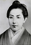 Undated - Ichiyo Higuchi (1872-1896) is the Japanese author in Meiji era. In 1894 her first major work, Otsugomori (The New Year's Eve) was published, and in the following year, Takekurabe, Nigorie (Troubled Waters), Jusanya (The Thirteenth Night) were published to critical and popular success. But her literary career was cut short in 1896, when she contracted, and soon died of, tuberculosis. (Photo by Kingendai Photo Library/AFLO)