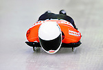17 December 2010: Tomass Dukurs sliding for Latvia, finishes in 8th place at the Viessmann FIBT Skeleton World Cup Championships in Lake Placid, New York, USA. Mandatory Credit: Ed Wolfstein Photo