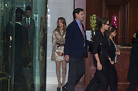 Isabel Preysler and Tamara Falco visit San Isidro funeral home following the death of Miguel Boyer in Madrid, Spain. September 29, 2014. (ALTERPHOTOS/Victor Blanco) /nortephoto.com