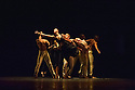 Edinburgh, UK. 25.08.2012. Juilliard Dance present a triple bill as part of the Edinburgh International Festival, at the Playhouse. Picture shows a scene from GNAWA. Dancers are: Christopher Kaiser, Daphne Fernberger, Lea Ved, Zack Winokur, Alexander Anderson, Kacey Hauk, Raymond Pinto.Leiland Charles, Taylor Drury, Derek Ege, Ashley Hagler, Lilja Ruriksdottir, Madeline Swenson, Reed Tankersley. Photo credit: Jane Hobson