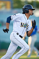 New Orleans Baby Cakes Yadiel Rivera (2) during a Pacific Coast League game against the Oklahoma City Dodgers on May 6, 2019 at Shrine on Airline in New Orleans, Louisiana.  New Orleans defeated Oklahoma City 4-0.  (Mike Janes/Four Seam Images)