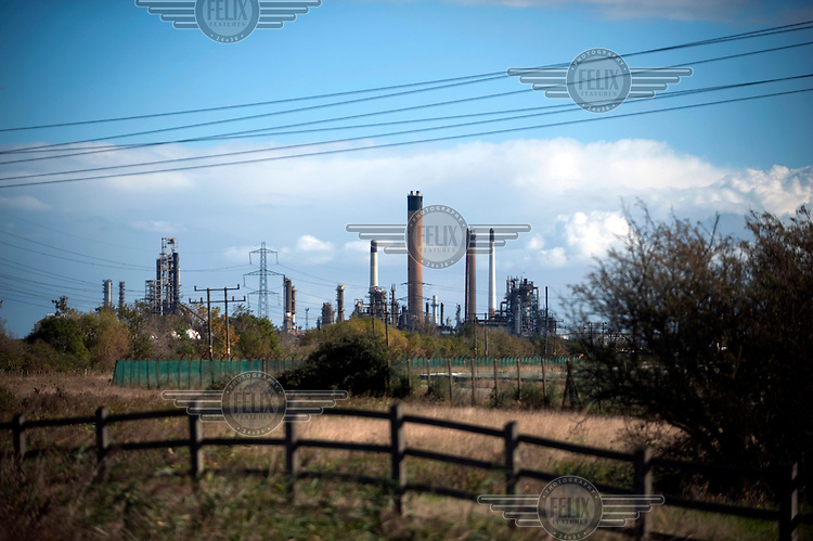 Coryton oil refinery in Stanford-le-Hope, Essex..