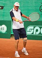 Netherlands, Amstelveen, August 21, 2015, Tennis,  National Veteran Championships, NVK, TV de Kegel,  Men's 70+, Benno de Jel<br /> Photo: Tennisimages/Henk Koster