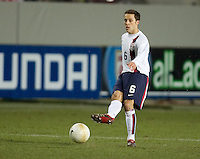 Steve Cherundolo kicks the ball at Fritz-Walter Stadium, Kaiserslautern, Germany, Wednesday, March 1, 2006. USA 1-0.