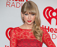 LAS VEGAS, NV - September 22:Taylor Swift  pictured at iHeart Radio Music Festival at MGM Grand Resort on September 22, 2012 in Las Vegas, Nevada. &copy; Kabik/ Starlitepics / MediaPunch Inc /NortePhoto<br />
