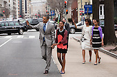 United States President Barack Obama and First Lady Michelle Obama walk with their daughters Sasha and Malia, right, to attend an Easter service at St. John's Church in Washington, D.C., Sunday, March 31, 2013. .Mandatory Credit: Pete Souza - White House via CNP