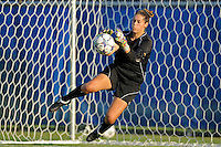 27 August 2011:  FIU's Melanie Raimo (1) stops the ball during pre-match drills.  The FIU Golden Panthers defeated the University of Arkon Zips, 1-0, at University Park Stadium in Miami, Florida.