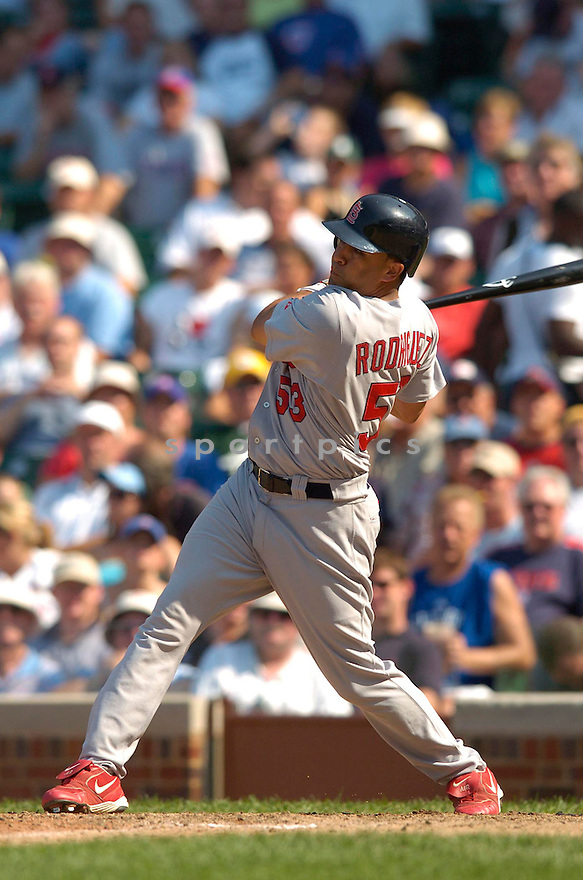 John Rodriguez, of the St. Louis Cardinals , in aciton against the Chicago Cubs on July 28, 2006in Chicago...Cubs win 6-5..Chris Bernachhi / SportPics