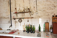 Chateau de Montpezat. Pezenas region. Languedoc. France. Europe. The winery laboratory.