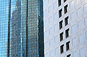 Building reflection  on skyscraper windows