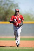 Cincinnati Reds JD Salmon-Williams (68) during an Instructional League game against the Texas Rangers on October 4, 2016 at the Surprise Stadium Complex in Surprise, Arizona.  (Mike Janes/Four Seam Images)