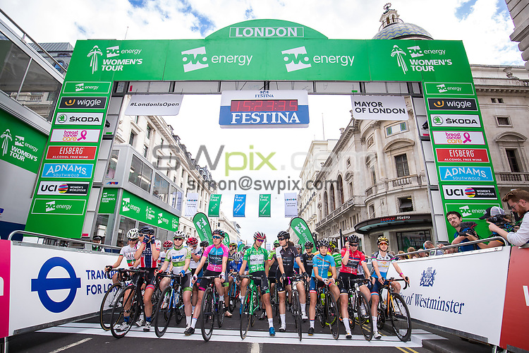 Picture by Alex Whitehead/SWpix.com - 11/06/2017 - Cycling - OVO Energy Women's Tour - Stage 5: The London Stage - Start. Katarzyna Niewiadoma