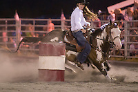 Johnsville, MD: J Bar W Ranch -- Paige Reynolds rounding first barrel.