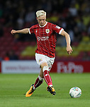 Bristol City's Hordur Magnusson in action during the Carabao cup match at Vicarage Road Stadium, Watford. Picture date 22nd August 2017. Picture credit should read: David Klein/Sportimage