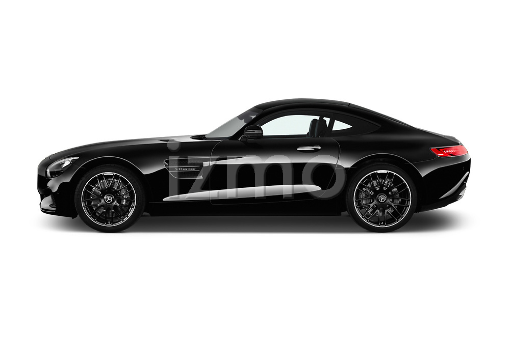 Car Driver side profile view of a 2017 Mercedes Benz AMG-GT - 3 Door Coupe Side View